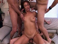 Make sure you have a look at this hardcore scene where the slutty milf Vanessa Videl ends up with her face bukkaked after a gangbang.