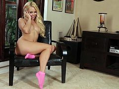 Check out this amazing solo scene where the beautiful blonde Aaliyah Love fingers her pink shaved pussy while talking on the phone with her blue-tooth headset.