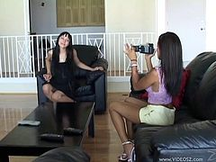 The gorgeous babes Cytherea and Lili Thai get incredibly horny as they film each other getting drilled in this nasty FFM threesome.