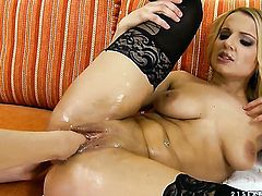 Brunette Cindy Hope is in the mood for pussy eating and does it with lesbian Tiana