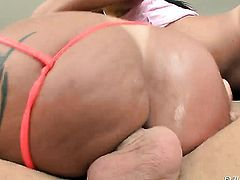 Mike Adriano makes Kelly Divine gag on his beefy rod after back yard fucking