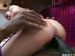 Watch the beautiful Riley Reid getting an oil massage before sucking on her masseuse's black monster cock before being drilled until her mouth's filled by cum.