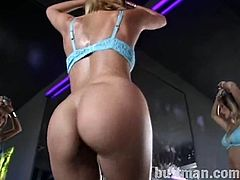 Press play on this hot scene and get an instant boner as you take a look at these sexy ladies' amazing bodies while they dance on a stripper pole.