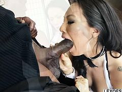 Hot Japanese spy takes a big ebony rod