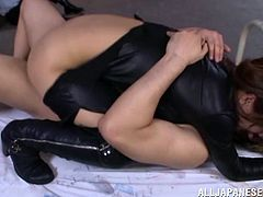 Nasty Japanese Hottie With Hot Ass Gets Facial Cumshot