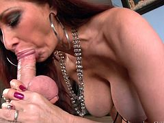 Redhead Diva Swallowing Multiple Dicks In A Interracial Sex