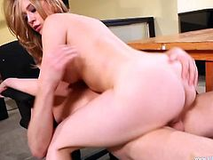 The amazingly sexy Kagney Linn Karter enjoys a big hard cock in her mouth and gets the rough fuck she wanted at the office.