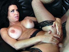 Rough anal sex with the horny brunette Veronica Avluv