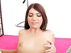 Cassandra Nix cant resist the temptation to take his hard cock in her love tunnel