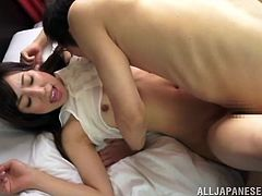 This hot babe was invited in the busy streets outdoor for a fuck scene but she takes the challenge to blowjob a hot dick. She takes off her panties to get pounded hardcore dogggystyle.