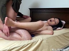 Take a look at this amateur video where this Asian babe sucks on her man's hard cock before riding it in this great video.
