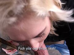 Salacious blonde Linda Ray is playing dirty games with a stranger. She gives him a blowjob for money, then stands on all fours and lets the dude drill her coochie doggy style.