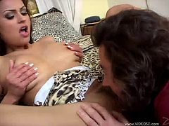 Have fun with this hardcore scene where the beautiful brunette Nikita Denise is eaten out by this guy before she sucks on his hard cock until being fucked silly.