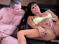 Take a look at this great hardcore scene where the sexy milf Tara Holiday is fucked by a big black cock while her man watches.