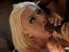 Leya Falcon is fucked by a monster cock as her husband watches