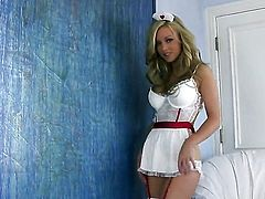 Kayden Kross playing with vibrator