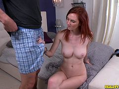 Get a load of Deedee Lynn's amazing body in this hardcore scene where this redhead hottie is fucked silly after sucking a guy's cock.