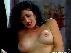 Beautiful angel with big tits have a chat with her guy before enjoying her sex hole being hammered hardcore in a reality threesome sex