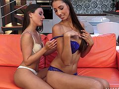 Gorgeous lesbian babes Iwia and Kitty Jane get really horny licking their hot asses and go for some nasty pussy fisting.