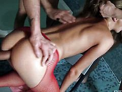 Cayenne Klein takes David Perrys erect pole in her asshole so fucking deep after foreplay