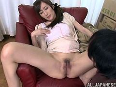 Make sure you take a look at this hardcore scene where this busty Asian babe is fucked by this guy after being eaten out.