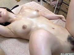 Curvy Japanese With Hot Ass Enjoying Her Sex Hole Being Licked