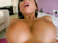Candy Strong has dick-hungry ass and takes care of dudes erect cock
