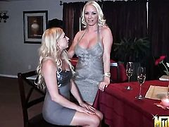 Blonde Molly Cavalli having unbelievable lesbian sex with Lexi Belle