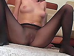 Nylons loving blonde jillingoff in stockings