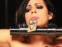 Lezdom rough treatment with restrained skank being humiliated