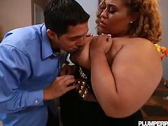 Latina bbw honey Ashley Heart makes her hardcore debut and it's not gonna frustrate her. Watch how she blows the guys dick and riding it the rough way, performance like a pro.