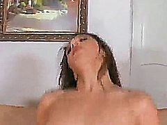 Sexy brunette paris is taking a dick in black stockings.
