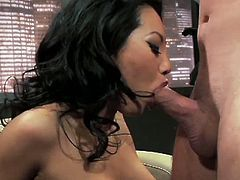 Watch the video Asa Akira wet pussy pop as a hard cock rides her at Hustler.See how this tight pussy babe Asa Akira getting her wet pussy fucked hard on the couch.