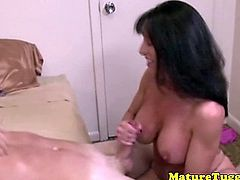 Busty MILF cougar toying with dick and she cant get enoughbr