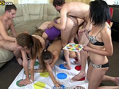 Boys and girls gathered in the living room to play some kinky games. The game they play involves nudity and it seems there is no room for shyness. Naked bodies mix and change partners with ease. The crazy blowjobs or the fingering scenes are all captured clearly on the camera. Click to see!