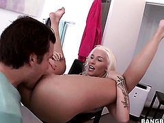 Stevie Shae with phat ass is about to get orgasm after taking dudes hard snake deep in her muff
