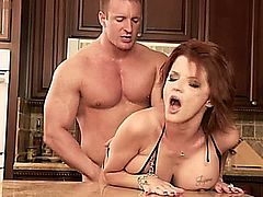 JOSLYN JAMES GETTING FUCKED IN THE KITCHEN