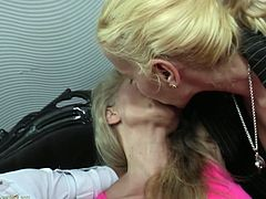 Three horny lesbians get wild together, spending the night making out on the couch. They passionately kiss and undress. A blonde bitch is licking tits and pussy. Click to see the lusty ladies getting loose.