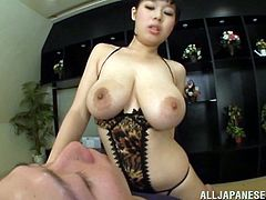 Japanese Babe with Natural Tits kisses her lover then reveals her tits in Bra as they got fucked in a Hardcore Tit job encounter