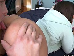 Jynx Maze tries to get fucked in her anal hole. She takes the huge cock in her mouth for a hot blowjob deepthroat and her pussy gets fucked hardcore.