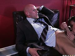Johnny Sins wants to drill breathtakingly hot Allie Hazes moist love hole forever