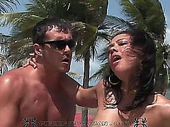 These two hot Brazilians get DP'ed by the pool. This video is in SD.