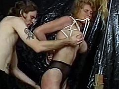 This blonde MILF learned not so long ago about BDSM and she instantly realized it was the hottest thing ever, especially when she had to be submissive and get tied up and stuff. She will be left all bounded and immobile before getting her ass spanked and tortured.