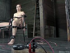 Our whores are not punished for nothing, furthermore, they like it! This time we have Bella and Rain, two bitches that needed a serious punishment. While Rain quietly stays in her small cage, awaiting persecution, Bella is tied nice and tight on the chair with electrodes on her body and gets shocked!