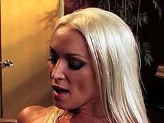 Diana Doll is a super hot blonde babe and she knows how to get outta trouble. Watch as she gets her horny pussy hammered by his meaty schlong that makes her scream.