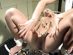 Blonde Katy Parker with huge melons and lesbian Gina D fuck on cam for you to watch and enjoy