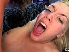 Blonde filthy adolescent Annette Schwartz has learnt at a young age how to please the boys. This dirty whore takes all 2 cocks in her ass and pussy, shrieking with pure delight.