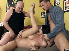 Danny Mountain gets his always hard cock used by anal-loving Roxanne Hall