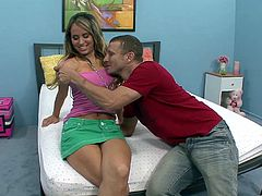 Aleska Diamond with her boyfriend shows how they fuck. They started with pussy licking and fingering and a hardcore doggystyle banging.
