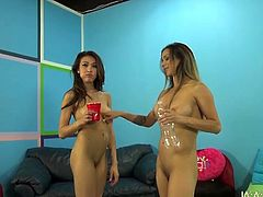 Freaky dude fucks two busty dark haired chicks Jayden Lee and Nadia Stylez
